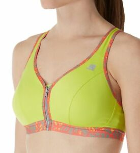 0065fb5e145 Shock Absorber Active Zipped Plunge Sports Bra Front Fastening Lime ...