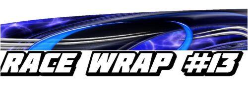 Half Wrap Vinyl Decal IMCA Late Model Dirt Trailer Truck RACE CAR GRAPHICS #13