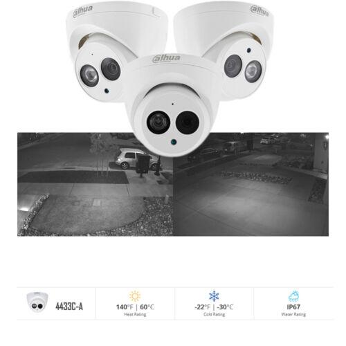 Dahua 8CH POE 4K Kit NVR 2108HS-8P-4KS2 4MP HD IR 50M IP Cameras IPC-HDW4433C-A