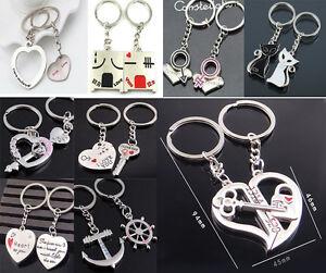 2pcs-Fashion-Love-Heart-Key-Ring-Keyfob-Couples-Romantic-Keychain-Lover-Gift-WG