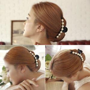 1X-Pince-Cheveux-Griffe-Epingle-Barrette-Perle-Mariage-Accessoires-Femme-Cadeau