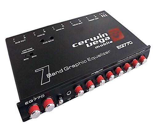 Black Parametric Cerwin Vega/'s Mobile Eq-770 Car Equalizer 7 Band Bass