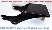 Black Tour Pack Pak Latches Razor Chop Trunk Mount For Harley Touring 97-08
