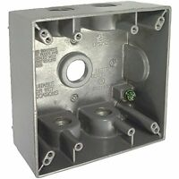Do It Best 502677 Two Gang Box Weatherproof Electrical Wire Junction Box