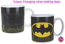 RETRO DC COMICS COLOUR CHANGING BATMAN LOGO JUST MUG CUP NEW & GIFT BOXED