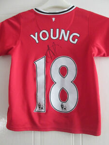quality design 584dc bbcd4 Details about Ashley Young Signed Manchester United Home Football Shirt  with COA /35188