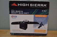 NEW HIGH SIERRA S4050 SKI & BOOT BAG COMBO