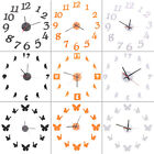 9Style Funny Creative Modern 3D DIY Adhesive Decal Wall Room Decor Number Clock