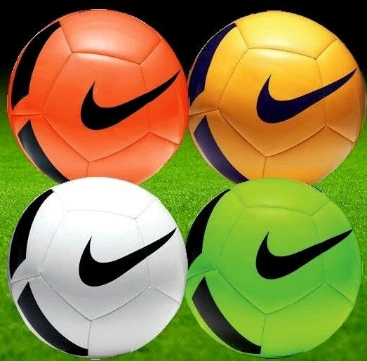 new arrivals sale online best sneakers Nike Pitch Team Training Football Ball - White Orange Green Yellow - Size  3,4,5