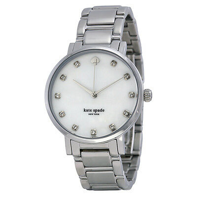 Kate Spade Gramercy Mother of Pearl Dial Stainless Steel Ladies Watch 1YRU0006