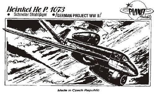 Heinkel P.1073 Sperimentale Jet Fighter  1/72 Kit Modello, Planet Models 018
