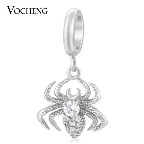Vocheng Endless Spider Charms Avec Zircon Cristal Cuivre Dangle Bijoux VC-153
