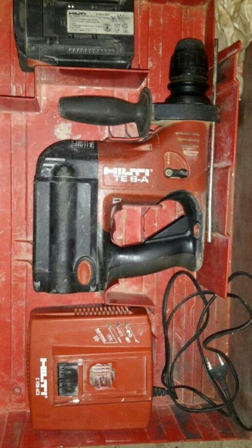 Hilti TE 6-A Bohrhammer, Ladegerät, Akku und Zubehör im Set Koffer