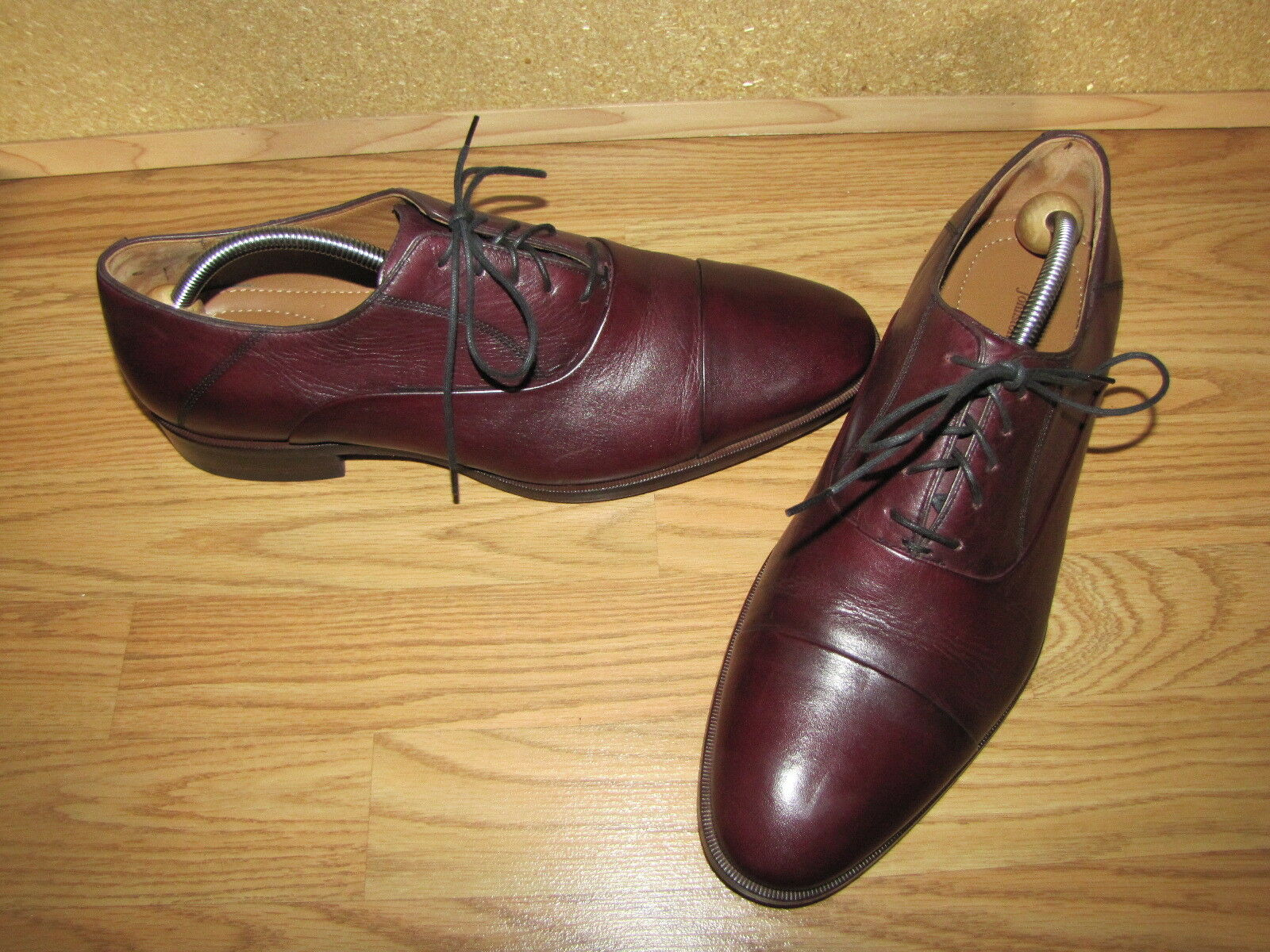 Johnston & Murphy 'Aristocrft' Burgundy Captoe Oxfords - 11M Euro. 45 EUC