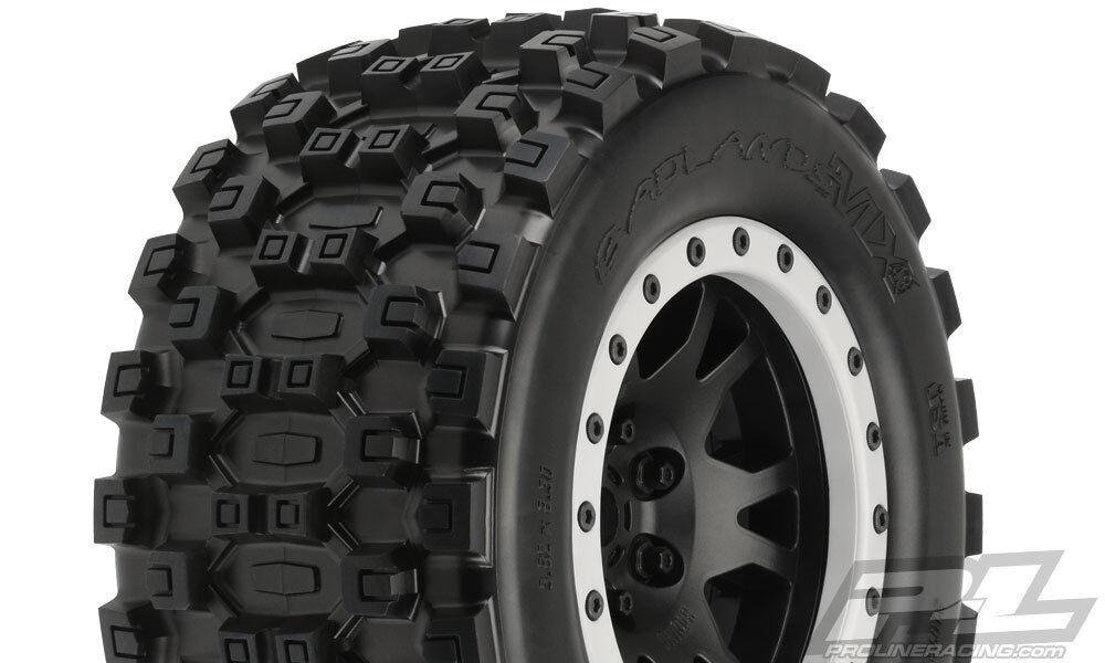 4 PRO-LINE BADLeS MX43 Pro-Loc MOUNTED TIRES TIRES TIRES + ruedaS TRAXXAS X-MAXX XMAXX a4c7d6