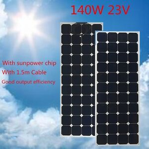 solarpanel 140w 23v semi flexible solarmodul. Black Bedroom Furniture Sets. Home Design Ideas
