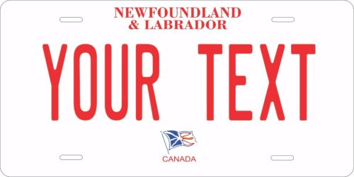 Newfoundland Tag Personalized Car Motorcycle Moped Bike Bicycle License plate