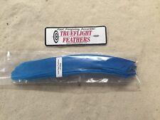 Dozen Pack Blue Trueflight Full Length Feathers Left Wing