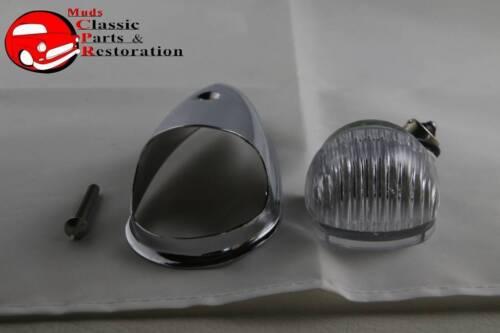 Guide Style Headlight Chrome LED Turn Signal Marker Light Housing Clear Lens