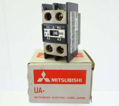 MITSUBISHI UA-AX202 Hilfsschütz 2Ö Auxiliary Contact Contactor 2NC Schütz UNUSED
