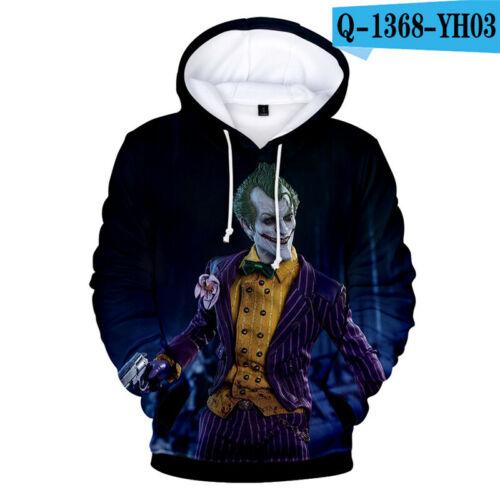 Halloween Funny Haha Joker Men Women 3D Sweatshirt Hoodie Pullover Hip Hop Tops