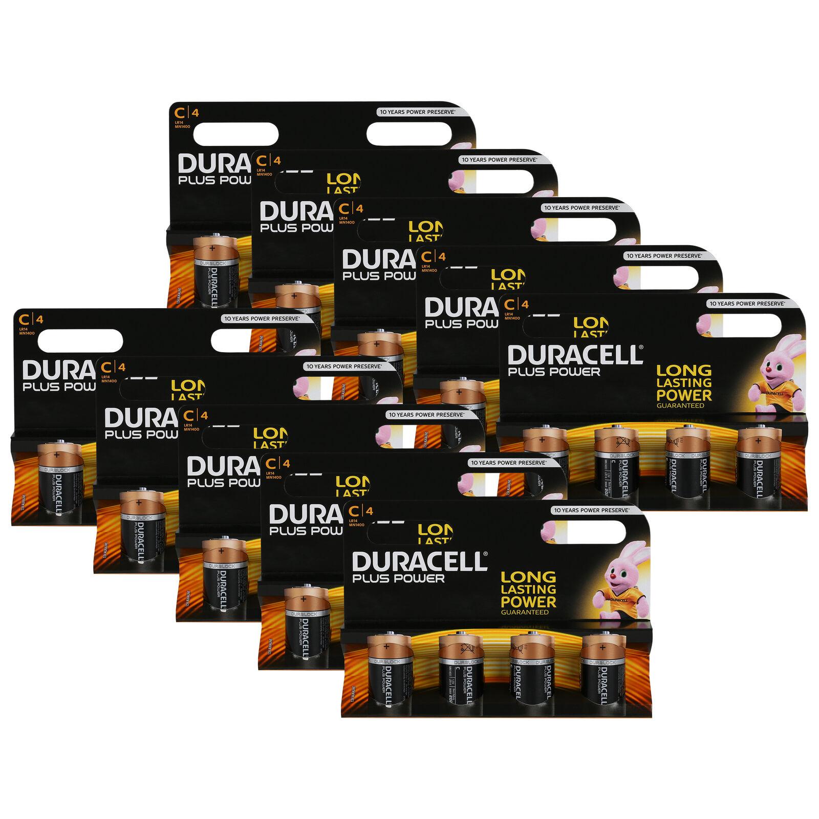 40 x Duracell Baby C Plus Power LR14 UM2 MN1400 Batterie 1,5V Alkaline 40 St