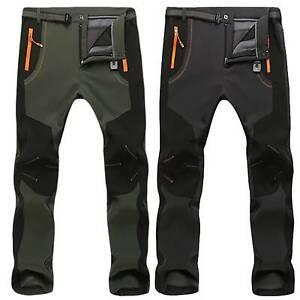 Para-Hombres-Pantalones-Termicos-Invierno-Impermeable-al-aire-libre-Senderismo-Esqui-Pantalones-a