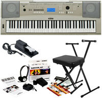 Yamaha Ypg-235 Portable Grand Keyboard Home Essentials Bundle on Sale