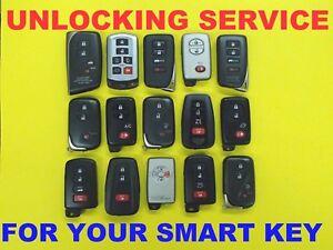 Unlock Reset Service Toyota Lexus Smart Key Proximity Prox Remote FOB W// New Key