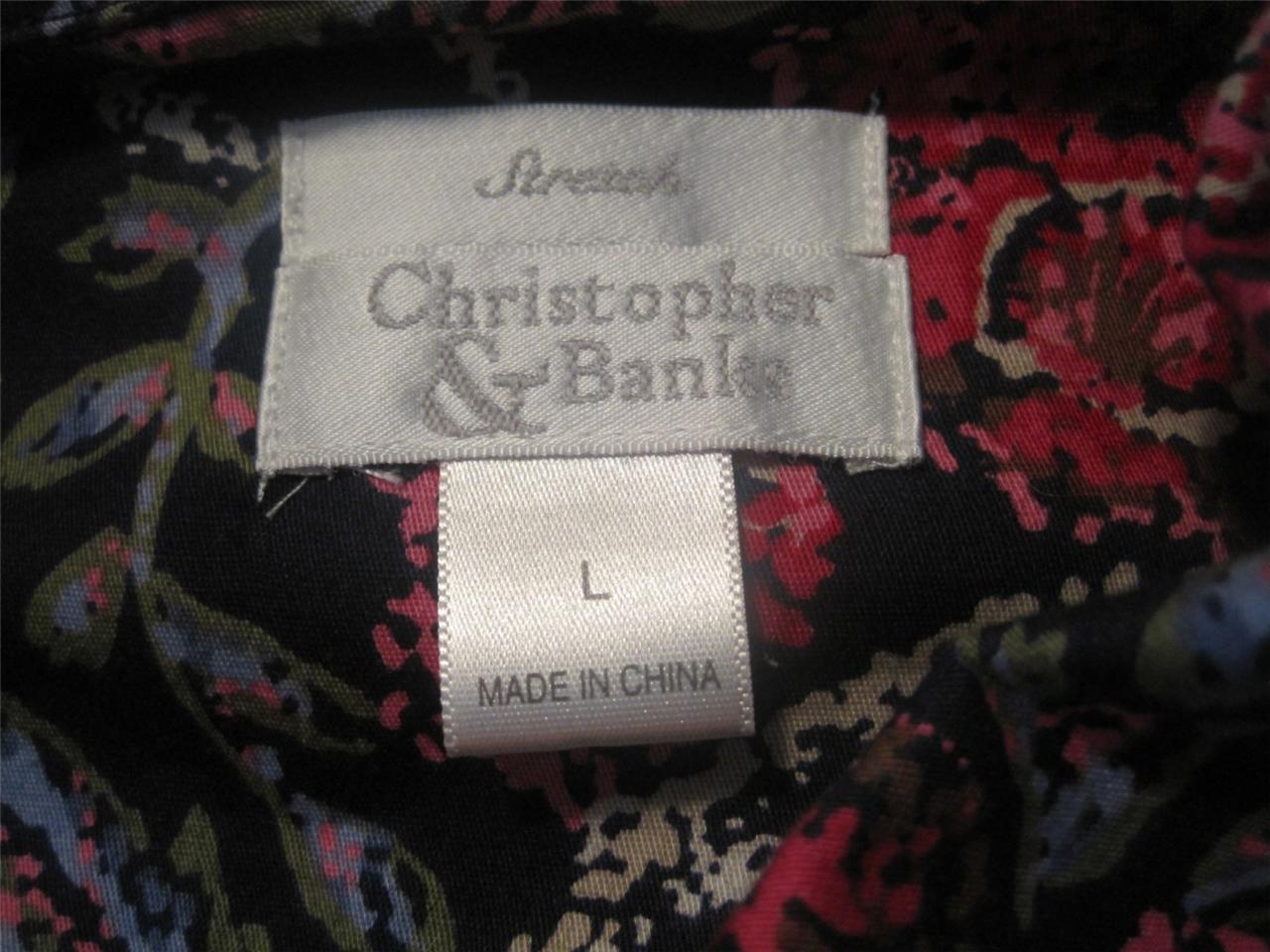 ST. JOHN'S BAY misses sz 10 black pants & CHRISTO… - image 4