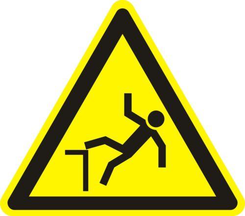 WARNZEICHEN /_ Warnung vor Absturzgefahr /_ ca 6cm