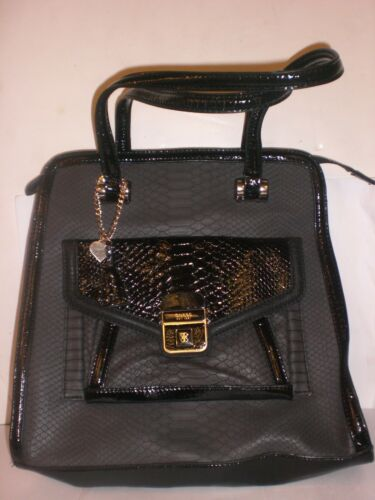 bfdc3dfa0bd0 New amp  Imperfect Handbag Guess Msrp 00 Black Tags Gray Without Authentic  128 UEaYwq