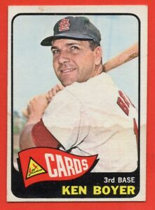 1965-Topps-100-Ken-Boyer-VG-VGEX-WRINKLE-MARKED-St-Louis-Cardinals-FREE-SHIP