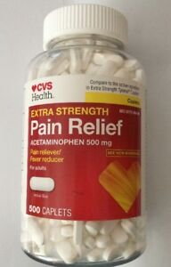 cvs extra strength pain relief fever acetaminophen 500 mg 500