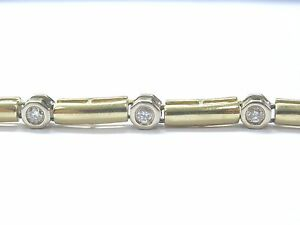 Fine-Round-Cut-Diamond-Bezel-Set-Yellow-Gold-Tennis-Bracelet-7-034-1-20Ct