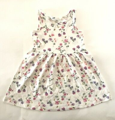 H M Girls Dress w// TRES CHIC Heart Blue and White Size 2 3 4