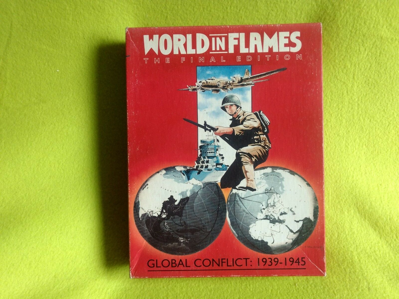 WORLD IN FLAMES THE FINAL EDITION  Ships in Flames wargame tabletop Australian