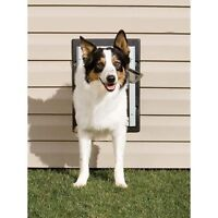 Petsafe Wall Entry Aluminum Dog Door Double Flap System Small, Medium Or Large