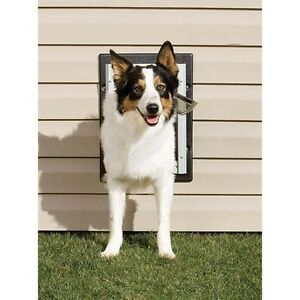 Image Is Loading PetSafe Wall Entry Aluminum Dog Door Double Flap