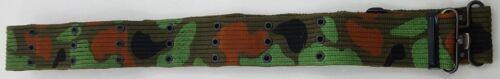 "Cotton Webbing GI Belt 44/"" x 2/"" Army Pistol Style Eyelets Camping Cadet Hiking"
