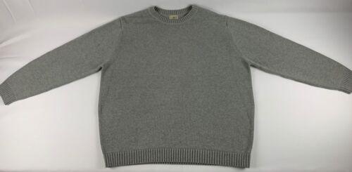 LL Bean Men's Gray XXL 100% Cotton Sweater