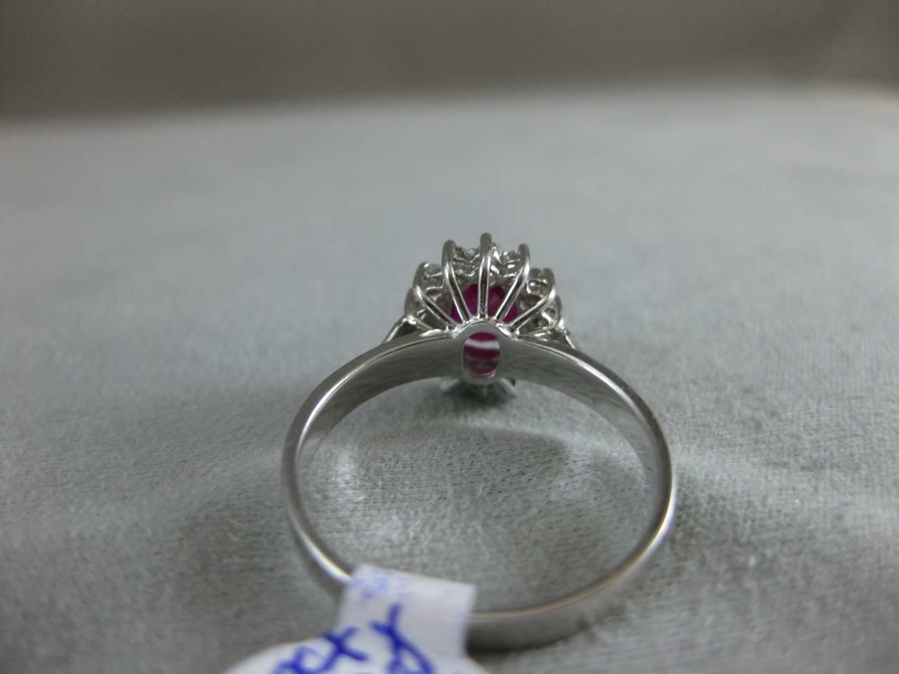 ESTATE 1.42CTW DIAMOND RUBY 18KT WHITE GOLD LADY … - image 6