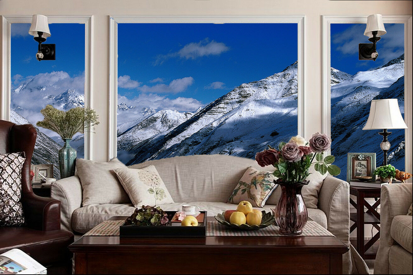3D Snow Mountains 563 Wall Paper Wall Print Decal Wall Deco Indoor Mural Summer