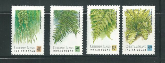 Christmas Island Scott 238 241 Mnh Fern Plants Ebay