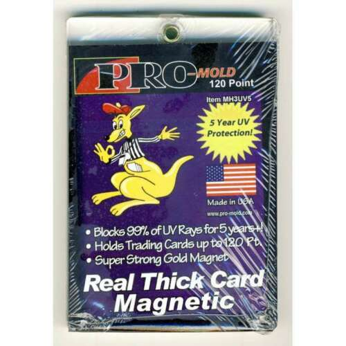 5 Year UV Protection 5x PRO-MOLD MH3UV5 Real Thick 120 Pt Magnetic Card Holder