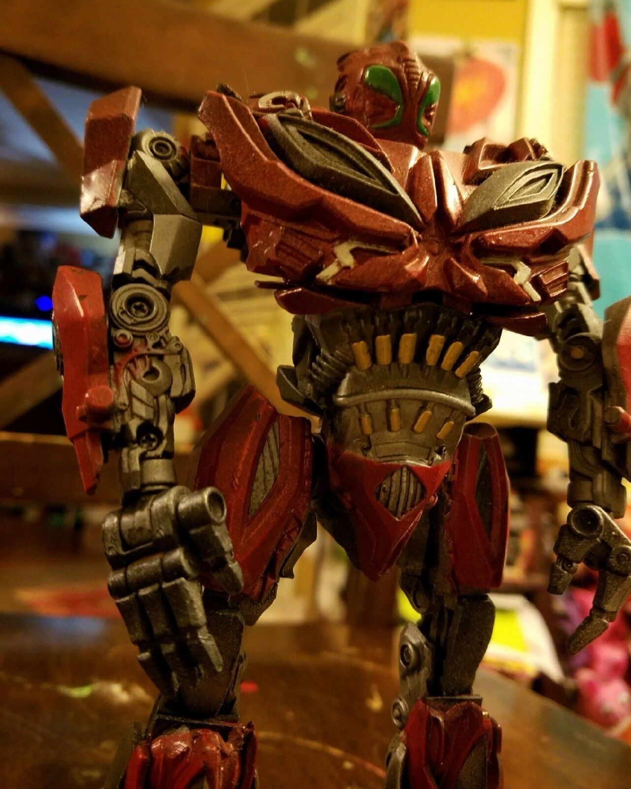 Personalizado Transformers-Personalizado Voyager Class Rojo Metálico Stinger