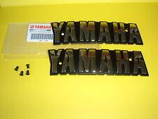 YAMAHA  XV750  Virago  Fuel  Tank  Emblems  Badges in GOLD plus Screws OEM