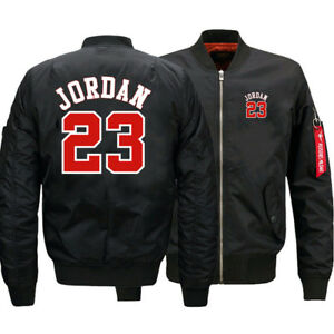 NEW-Men-039-s-Thick-Jacket-Michael-Jordan-23-MA1-Flight-Bomber-Coat-Baseball-Outwear