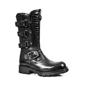 Strap Gothic New 7604 scarpe nero stivali Rock M Metal s1 Western Metallic xc4wFnY04q