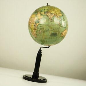 Historischer-Columbus-Volks-Globus-Erde-Antik-um-1918-Historic-Earth-Globe